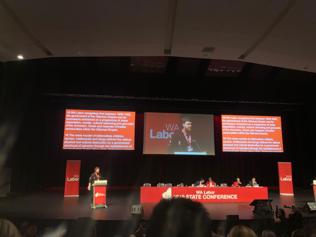 Western Australian Labor Conference Unanimously Recognises
