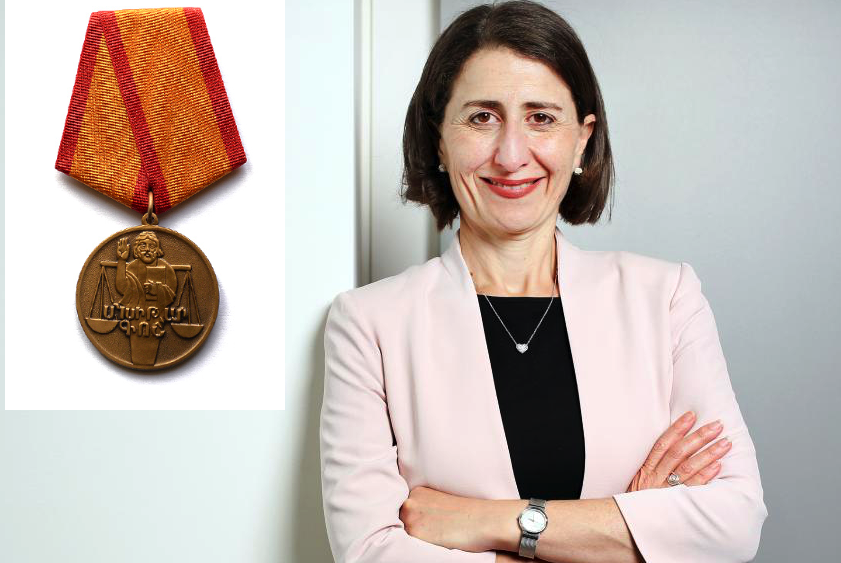 NSW Premier Gladys Berejiklian honoured with medal from the
